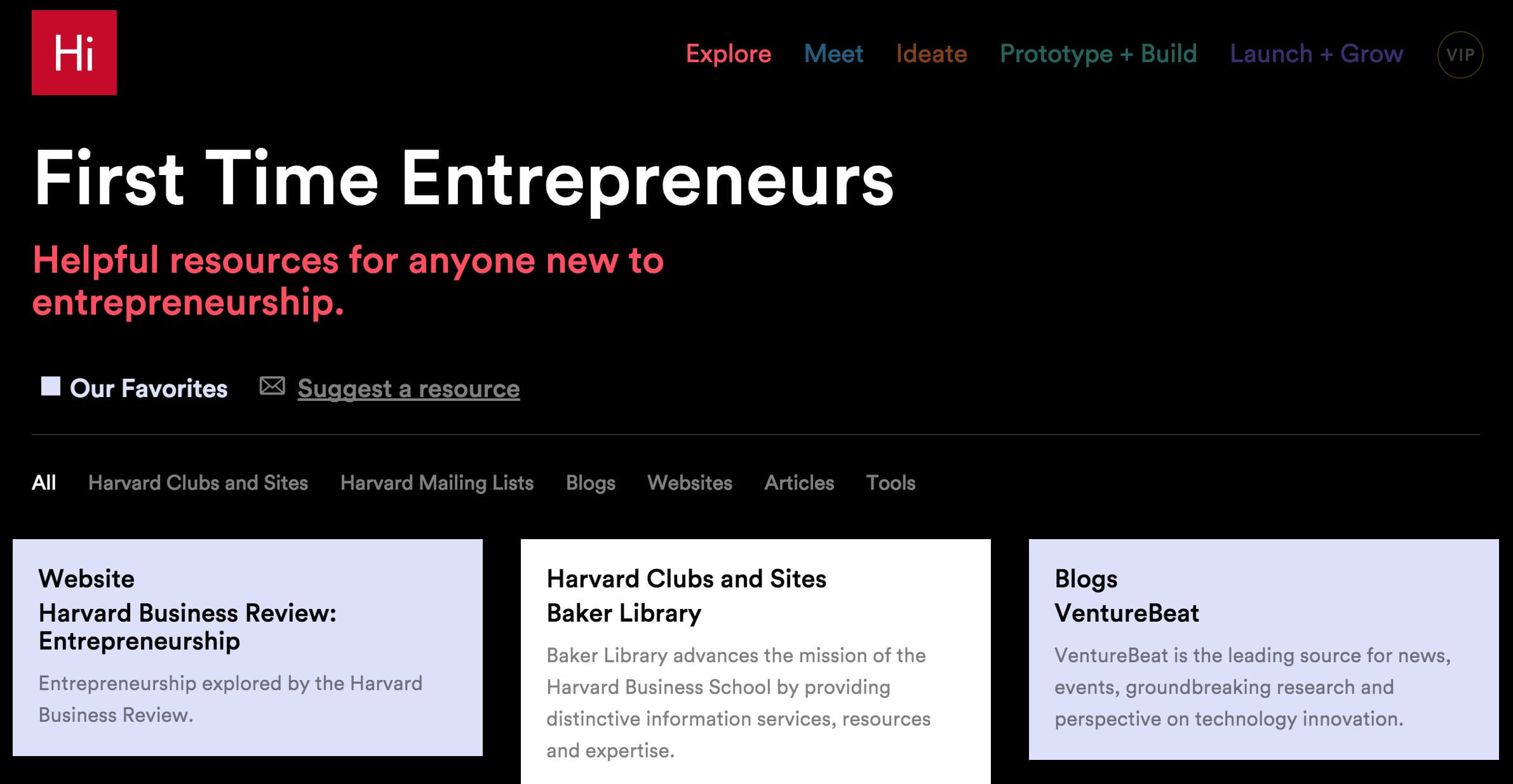 Harvard resources for first time entrepreneurs