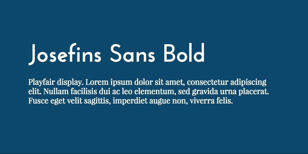 Josefin Sans & Playfair Display font combination