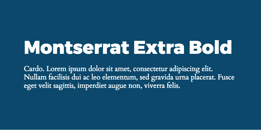 Montserrat & Cardo font combination