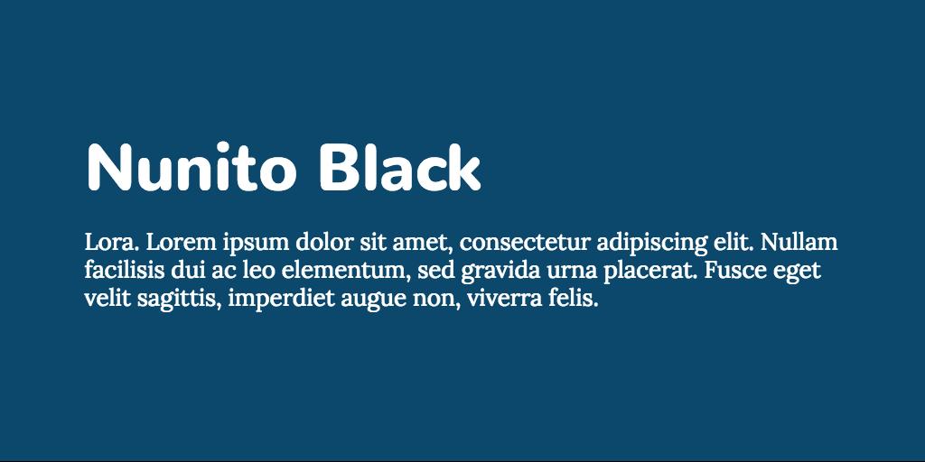 Nunito & Lora font combination