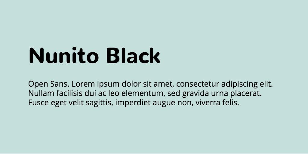 Nunito & Open Sans font combination