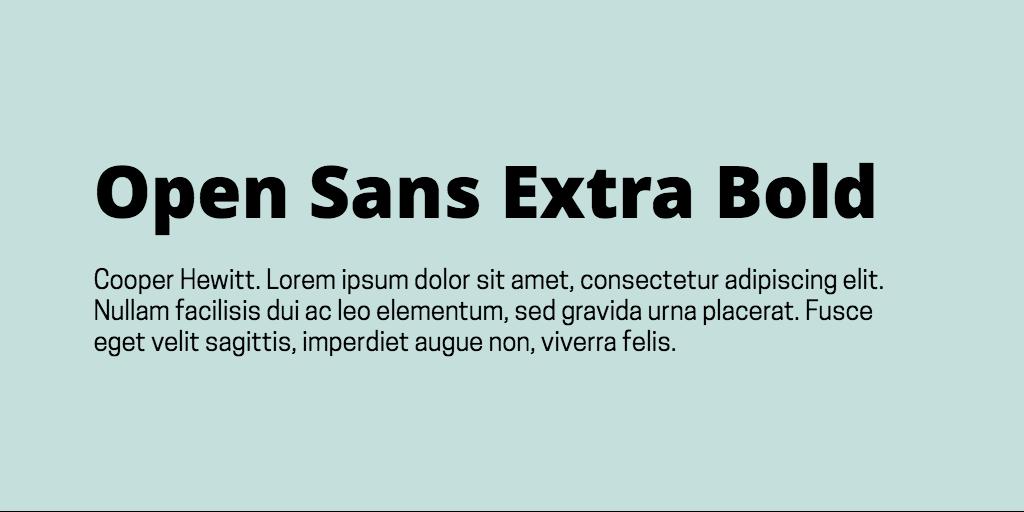 Open Sans & Cooper Hewitt font combination