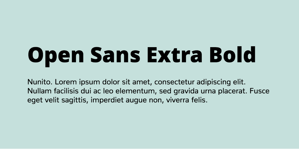Open Sans & Nunito font combination