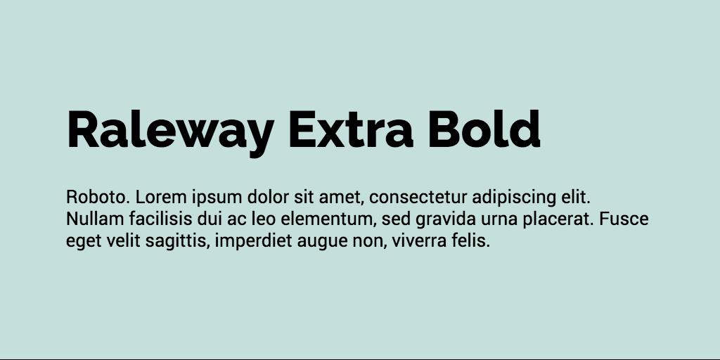 Raleway & Roboto font combination
