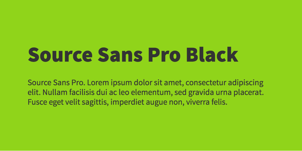 Source Serif Pro font variants
