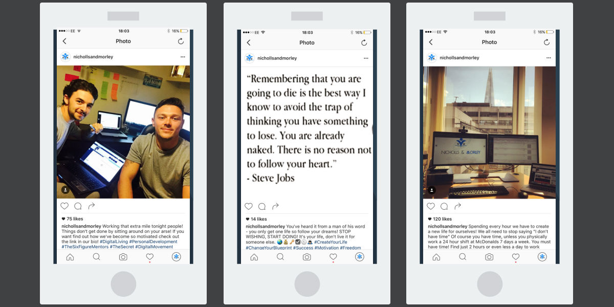 IG post examples