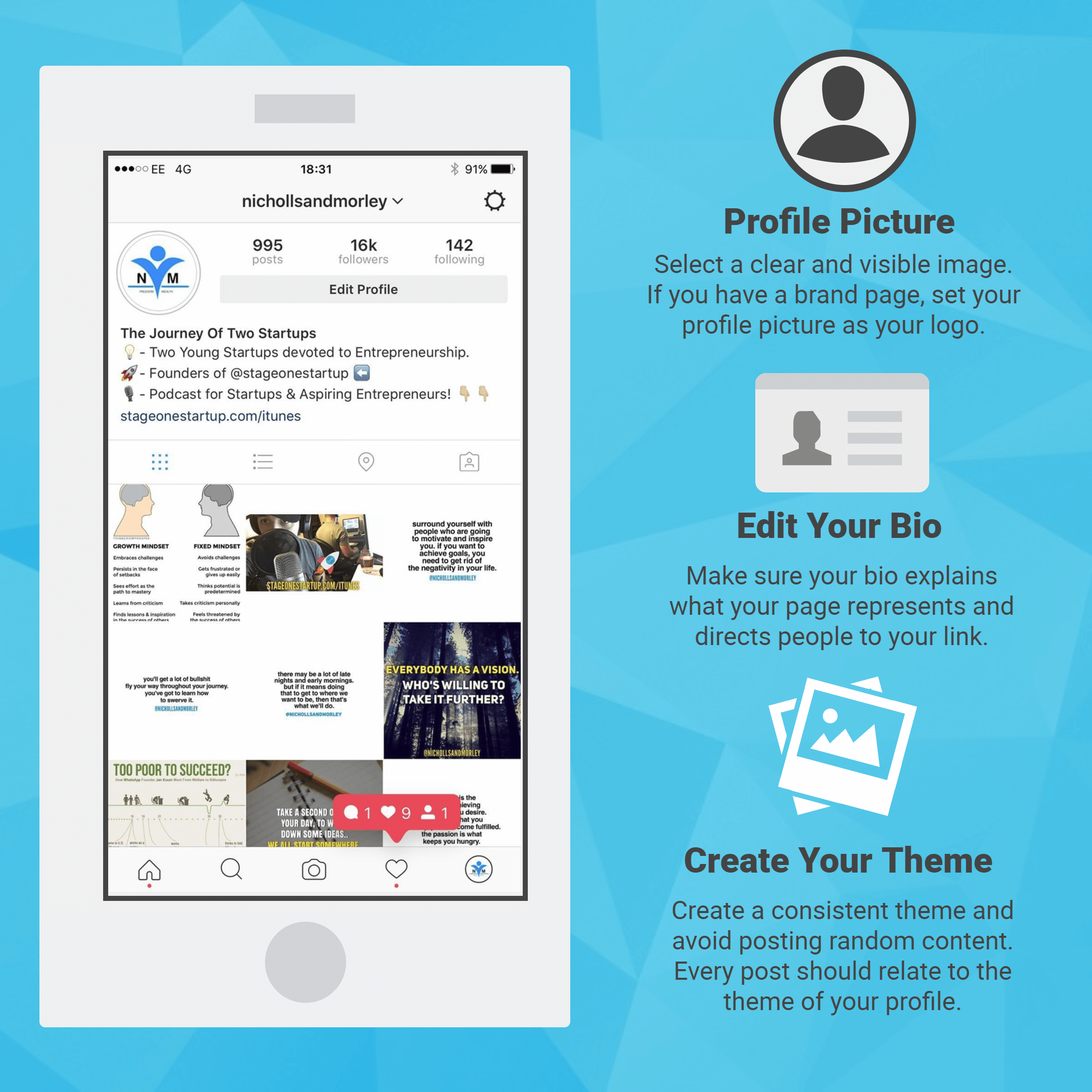 Instagram Theme Infographic