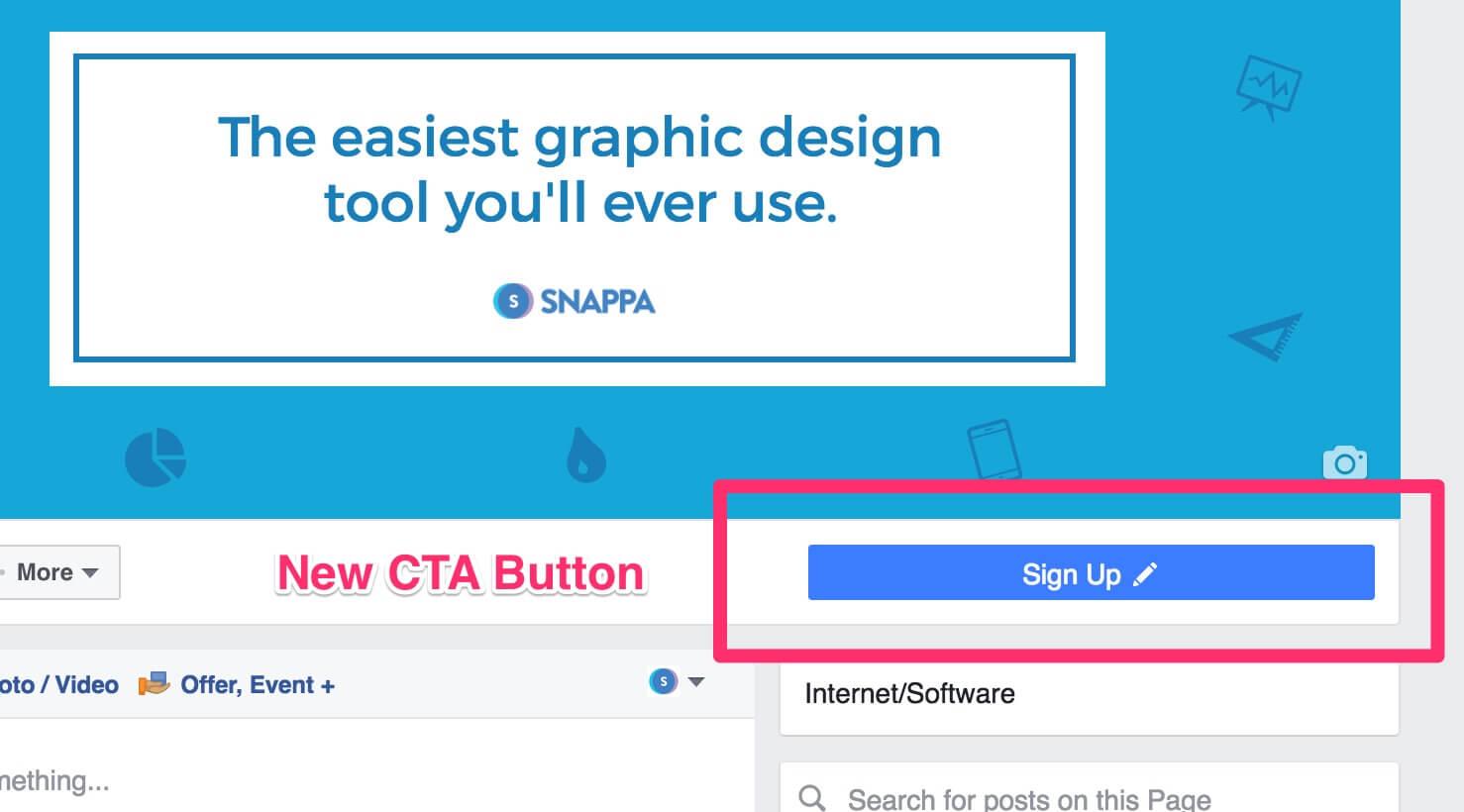 New CTA button