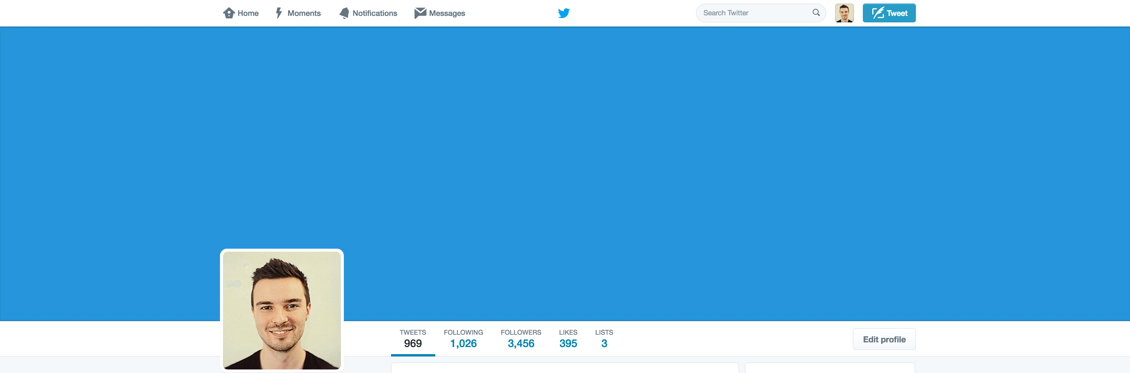 Twitter header dimensions after uploading