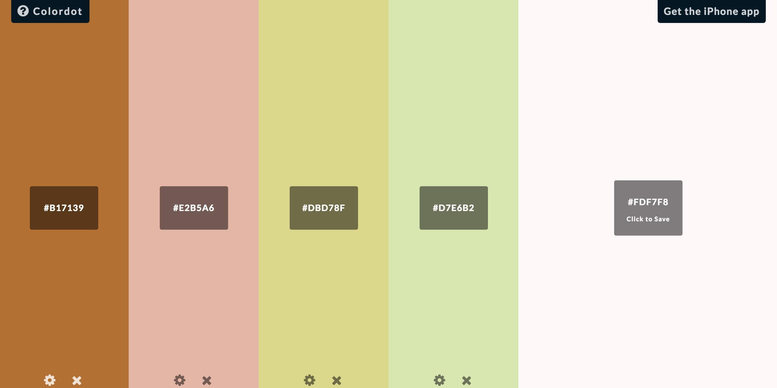 Colordot Color Schemes