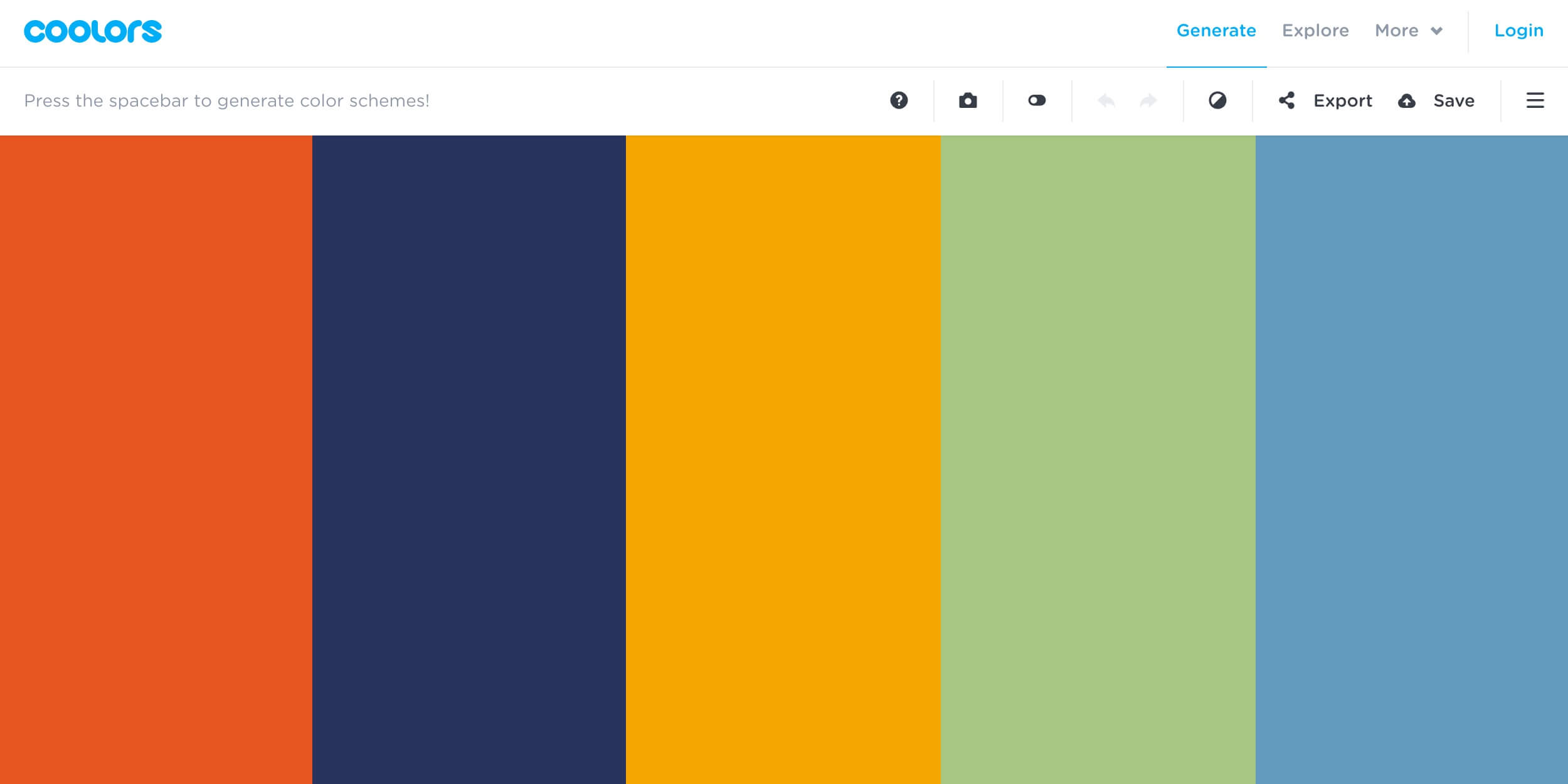 Coolors color scheme generator