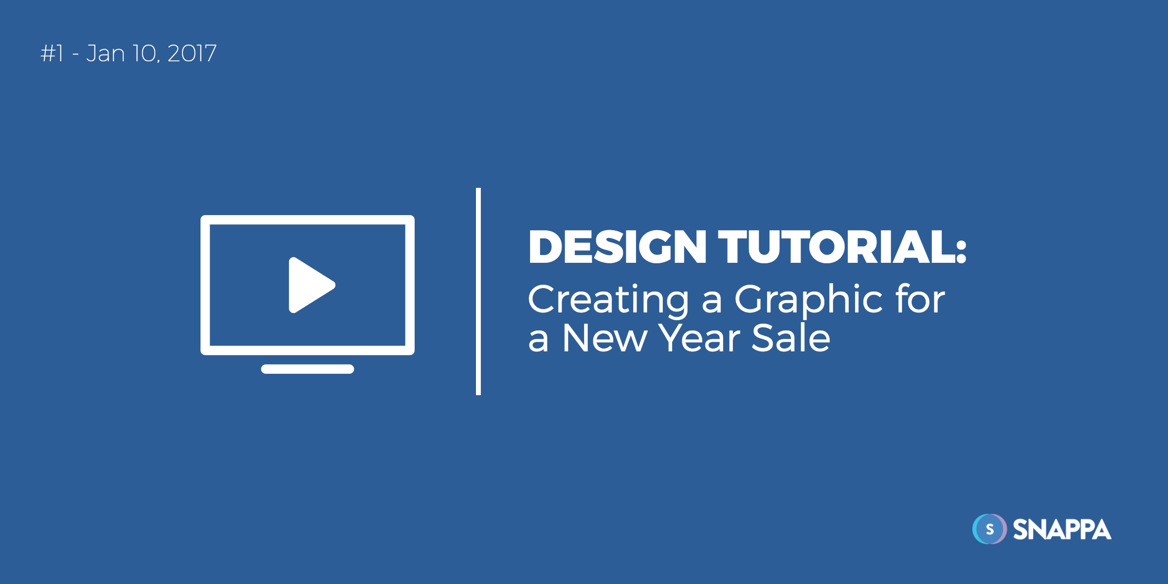 New year graphic design tutorial