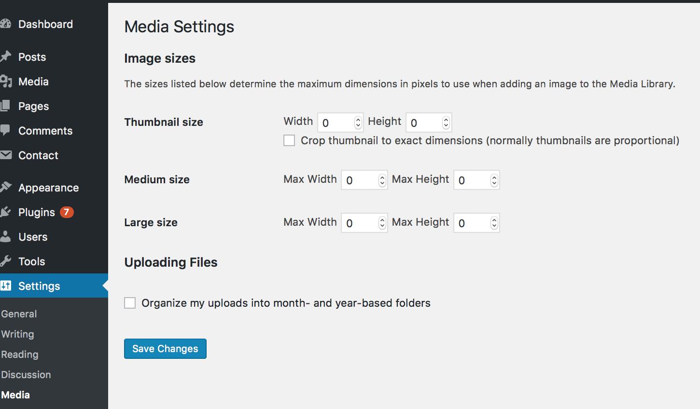 adjusting WordPress featured image size