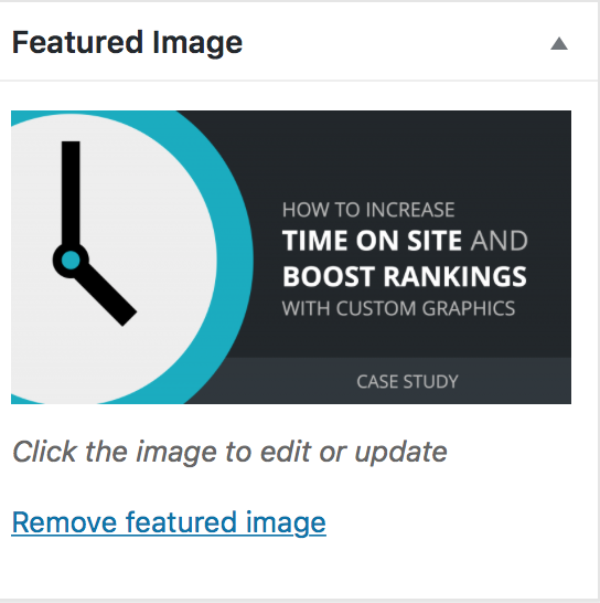 remove or edit featured image in WordPress