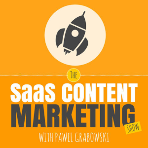 SaaS content marketing podcast cover