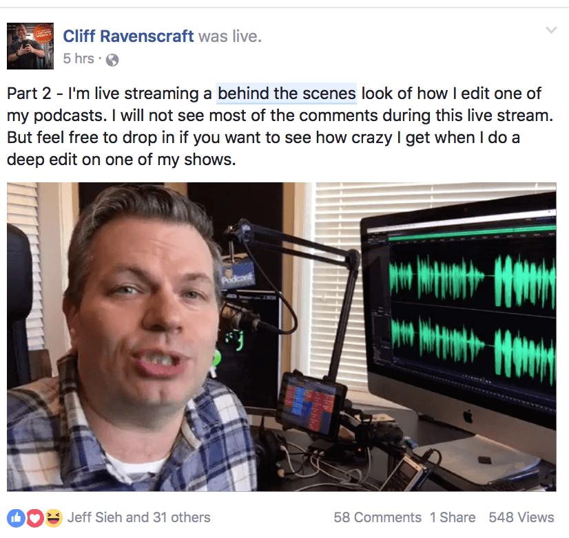 Behind the scenes post