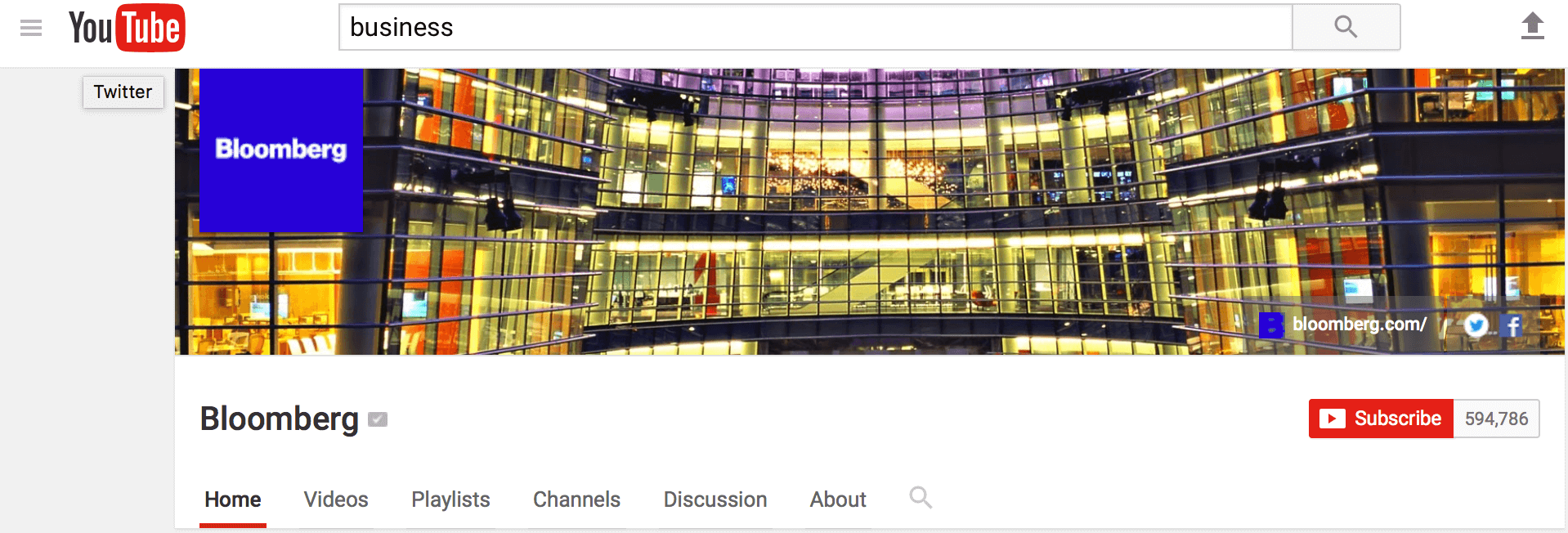 Channel art using large background image