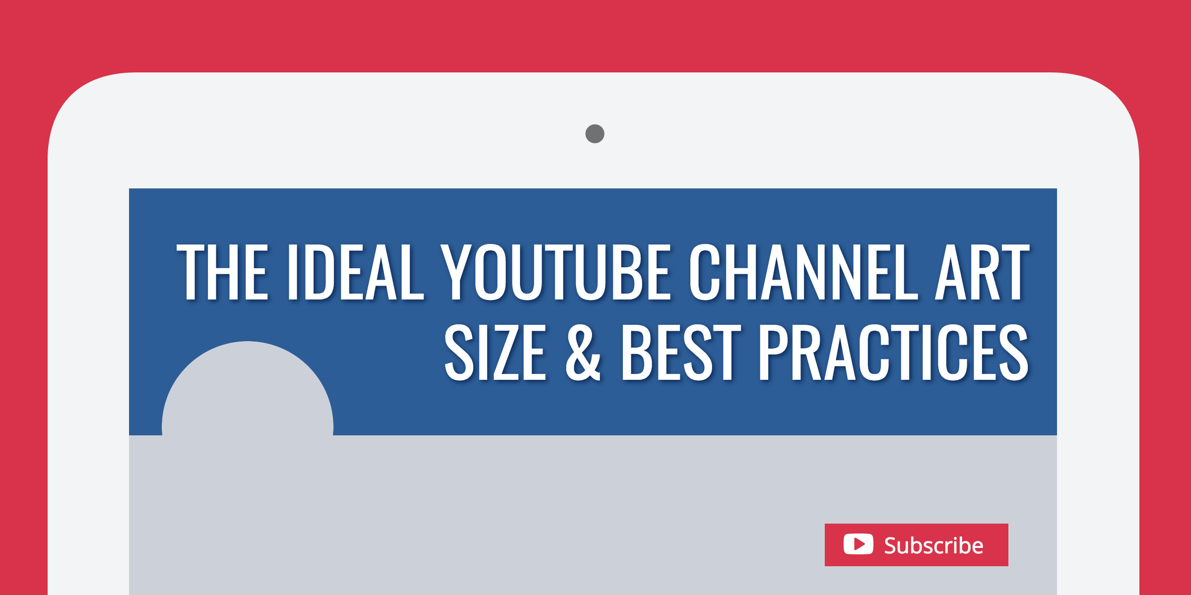 a307516f243 The Ideal YouTube Channel Art Size   Best Practices