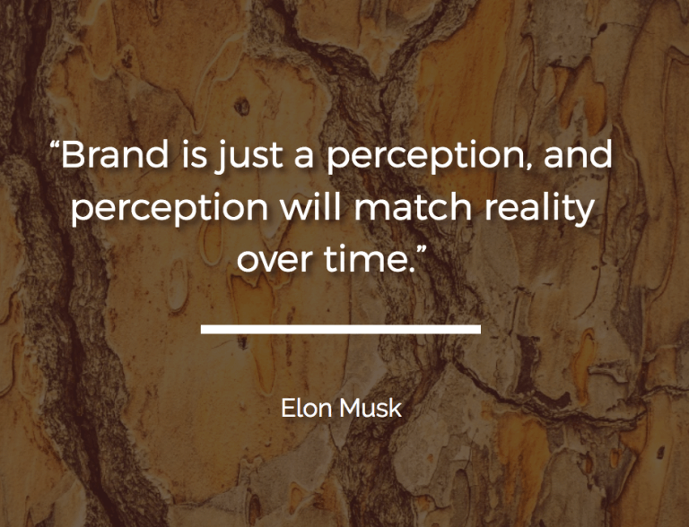 e5f6dcdb3a Brand is just a perception and perception will match reality over time