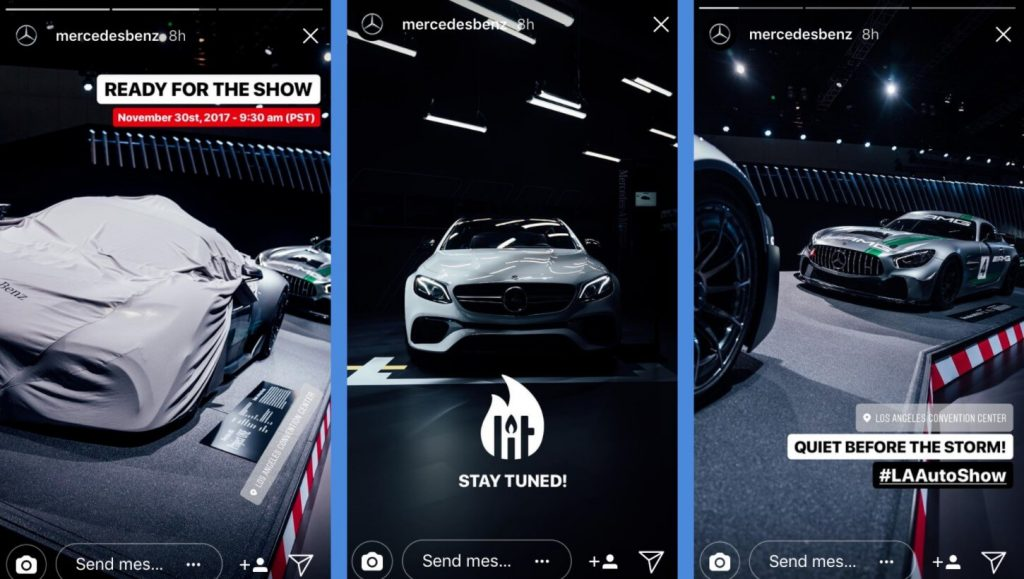 instagram story from mercedes amg influencer marketing