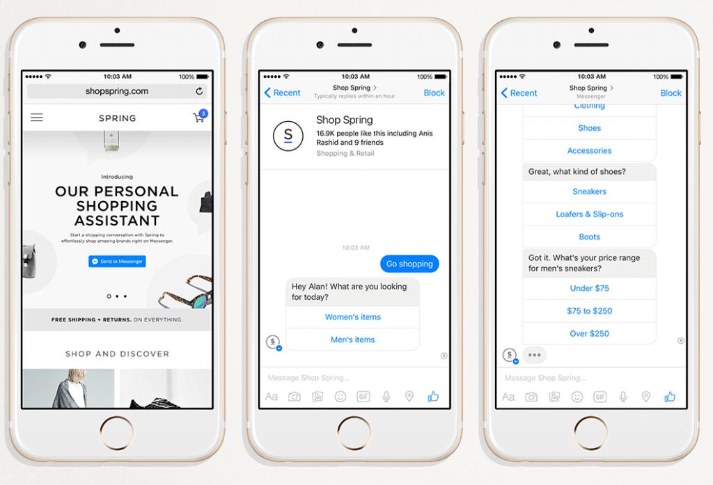 facebook chatbots for brands
