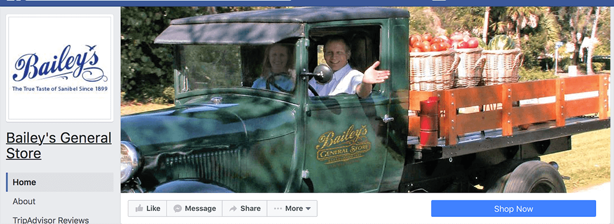 Bailey's General Store Facebook cover