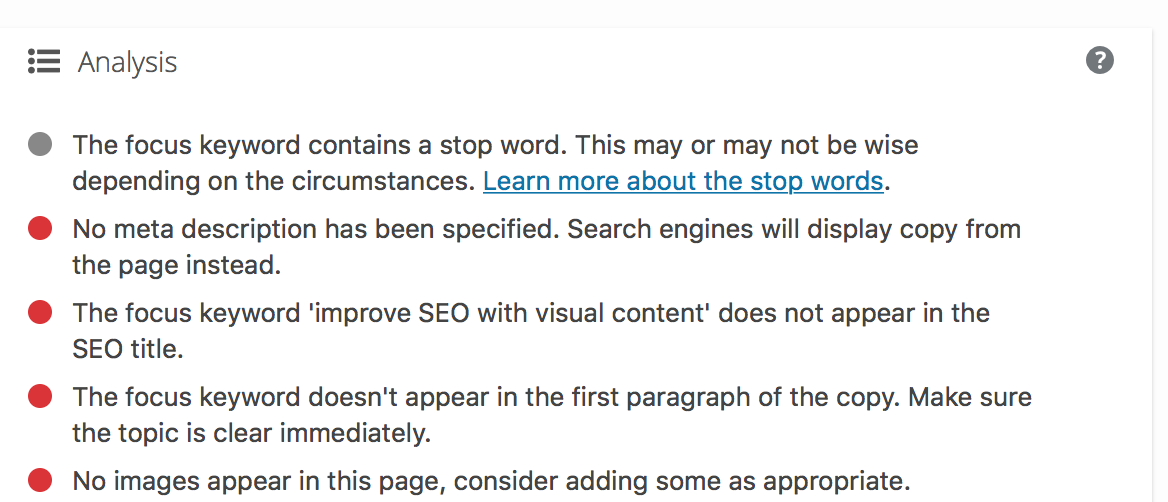 improve visual SEO