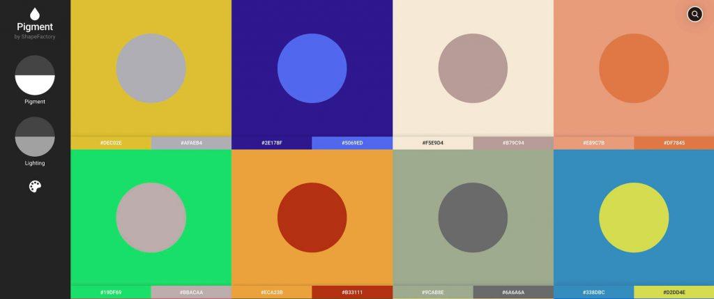 color palette inspiration by shapefactory