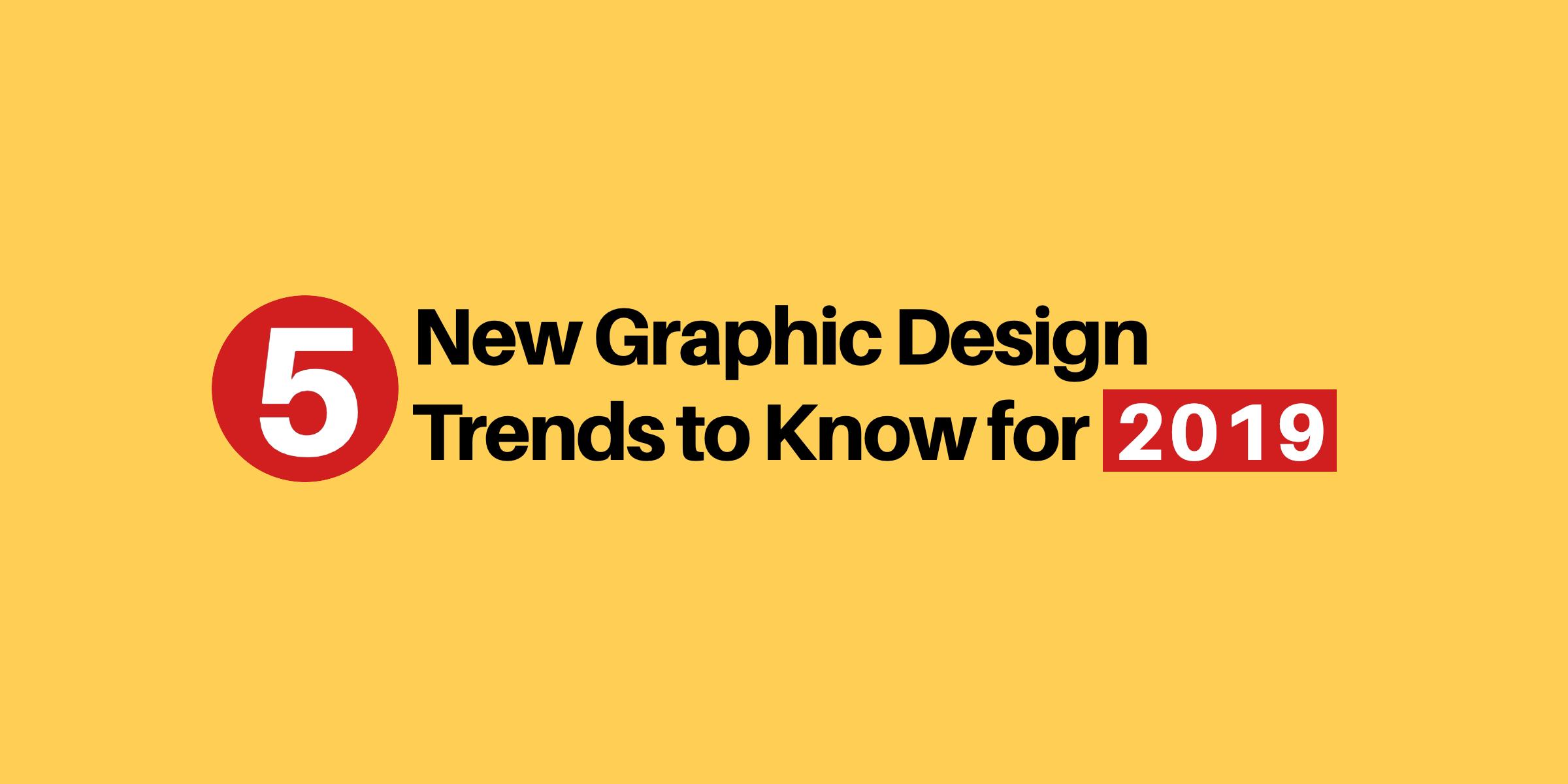 graphic design trends 2019