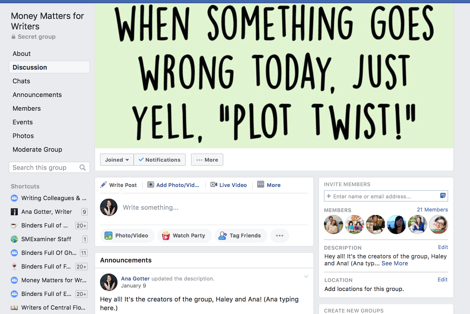 facebook group cover photo example