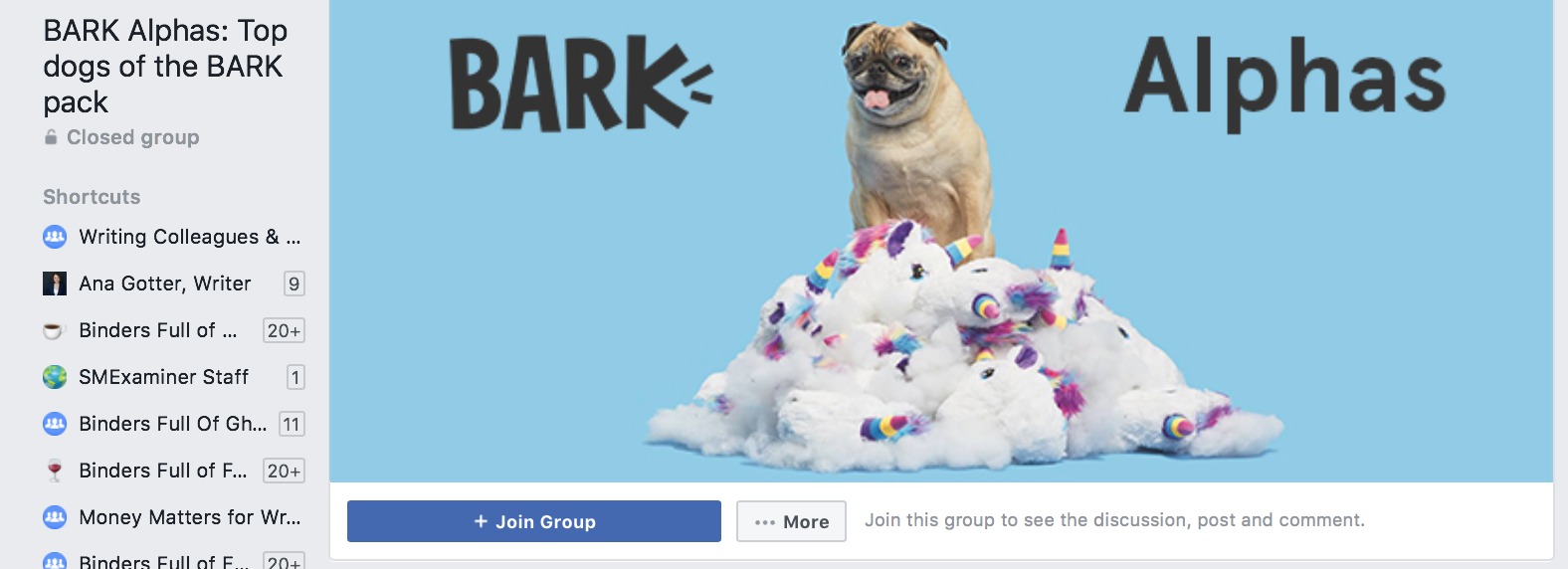 barkbox facebook closed group