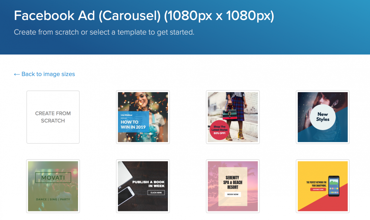 instagram ad size templates