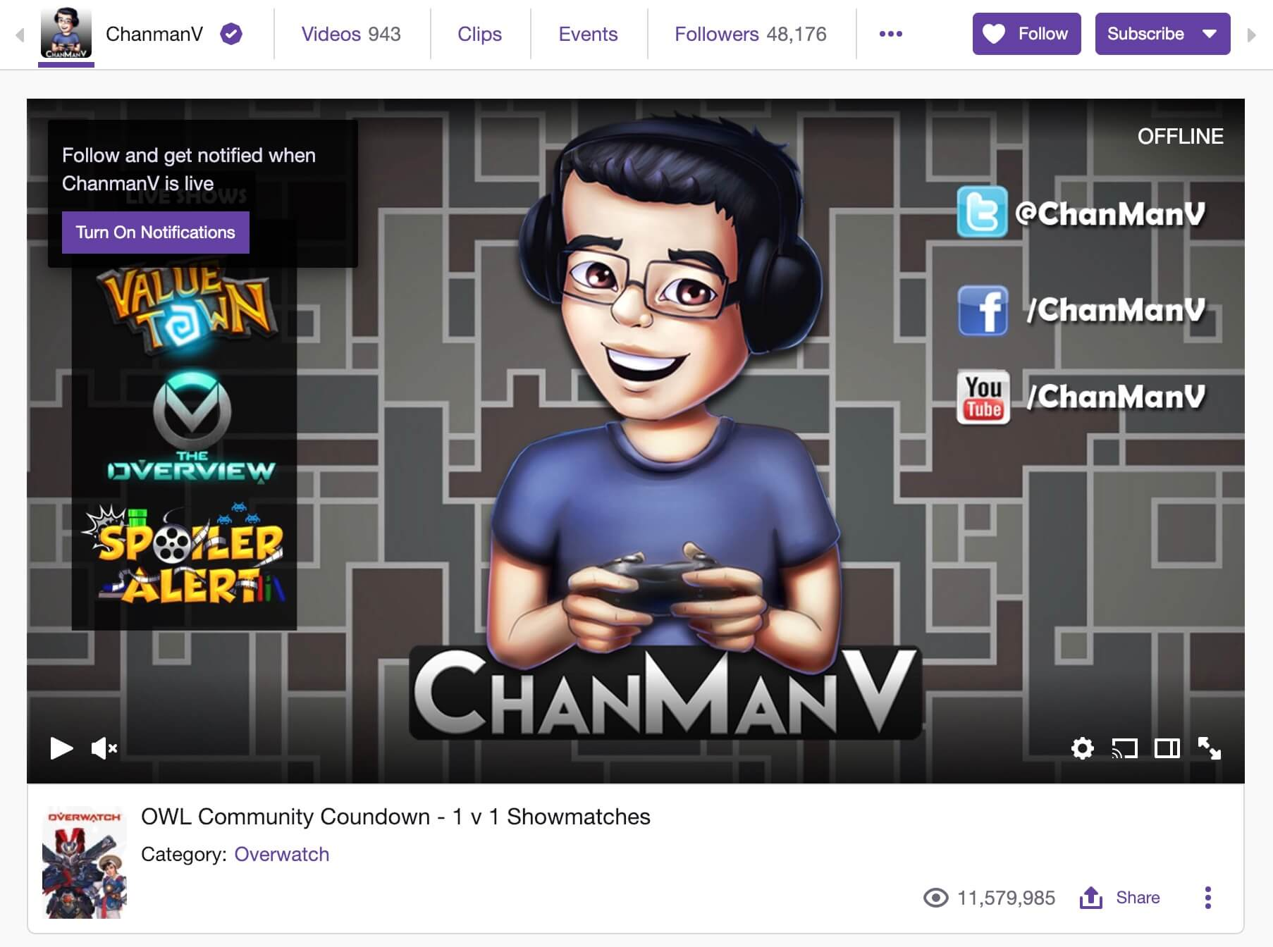 chanman twitch offline end screen