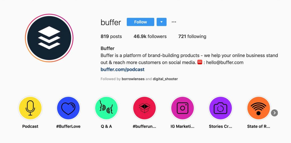 buffer instagram highlight cover icons
