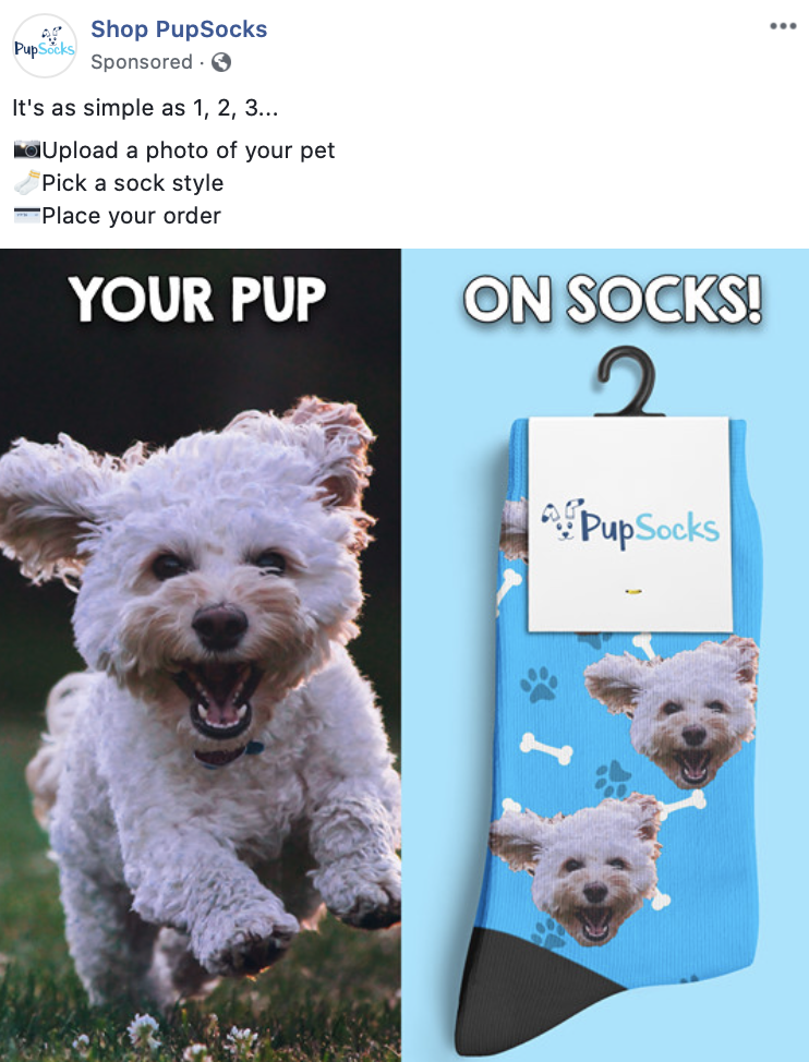 PupSocks Dog Facebook Ads