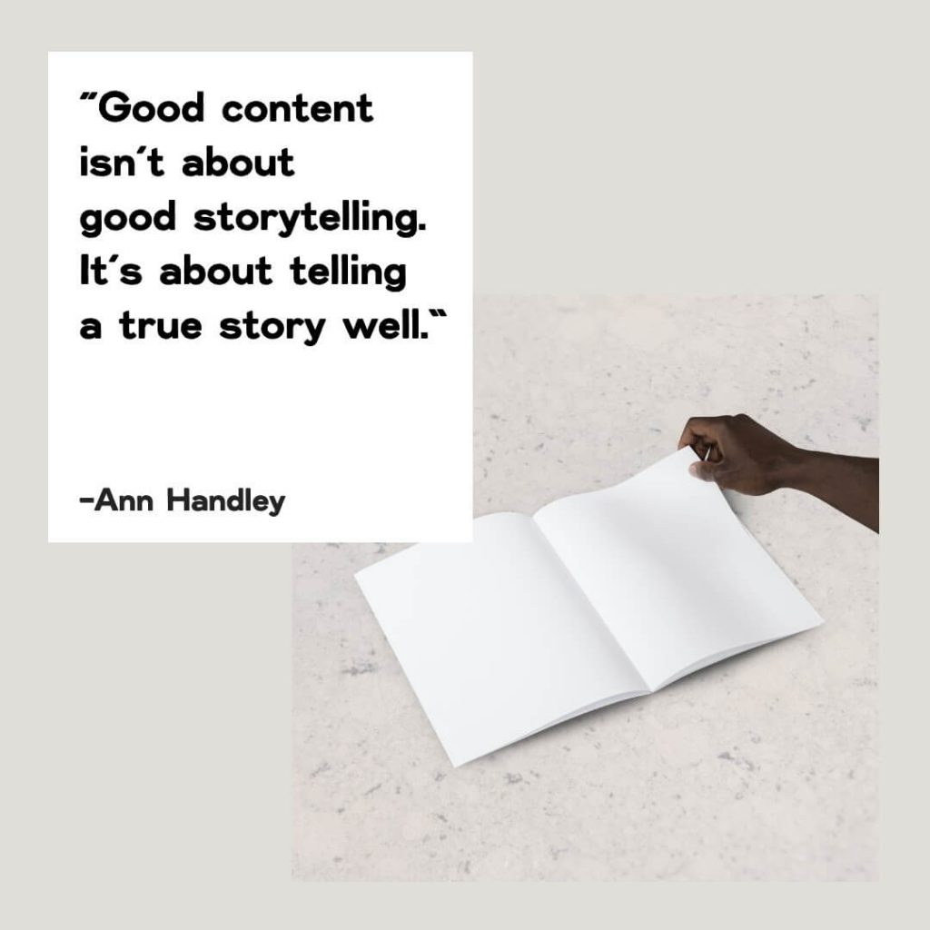 brand storytelling quote