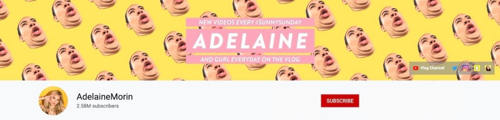 Adelaine Morin Youtube Banner Idea