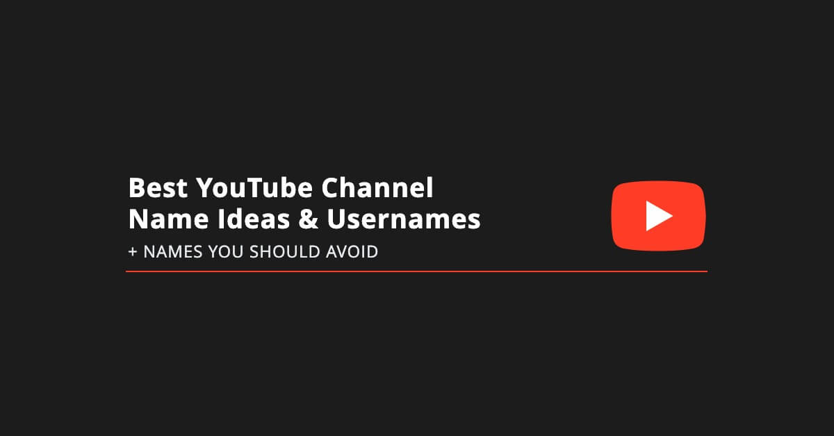 Yt World Roblox Best Youtube Channel Name Ideas Usernames To Avoid