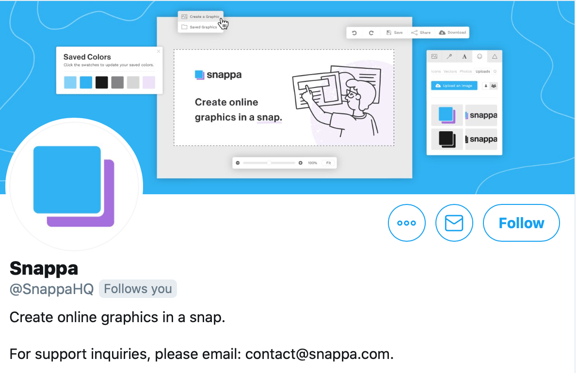 twitter display picture idea from Snappa