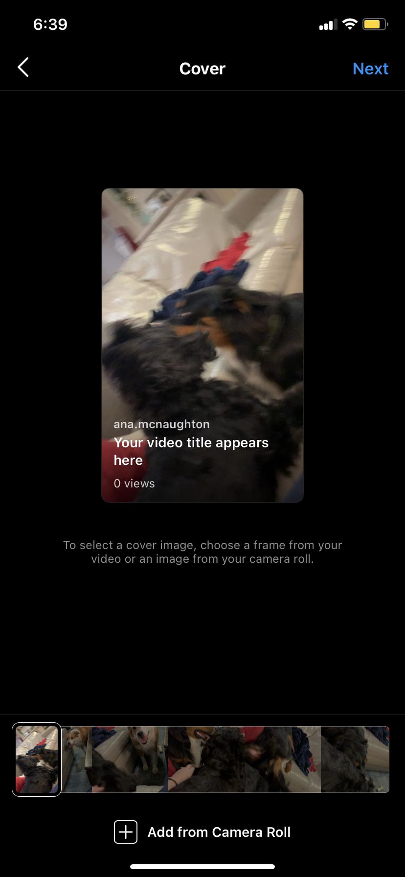 IGTV video thumbnails for Instagram
