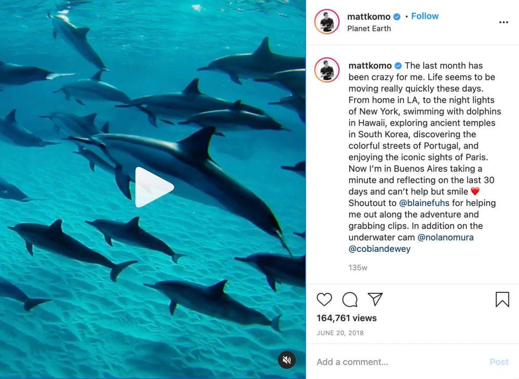 Matt Komo Instagram Video Editing