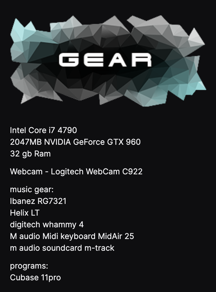 twitch gear panel example